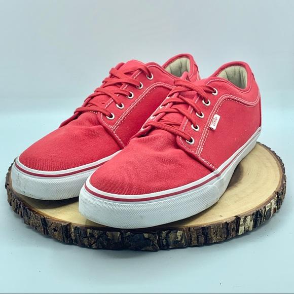 Vans Shoes   Mens Red Canvas Era 59